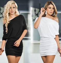 europese en amerikaanse grote werven effen kleur sexy nachtkleding hete verkoop pakket heup enkele schouder nachtclub jurk slim fit