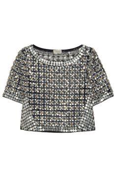 Temperley London Angeli embellished mesh top NET-A-PORTER.COM
