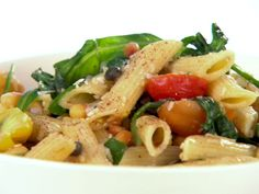 Penne with Brown Butter, Arugula, and Pine Nuts recipe from Giada De Laurentiis via Food Network