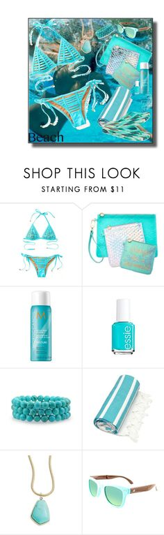"""Beach Day"" by marionmeyer ❤ liked on Polyvore featuring Beach Bunny, Celebrate Shop, Moroccanoil, Essie, Bling Jewelry, Linum Home Textiles, Lauren Ralph Lauren, IPANEMA and beachday"
