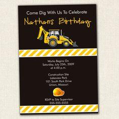 Custom Construction Birthday Invitation by SimplyCreativeMel, $14.00