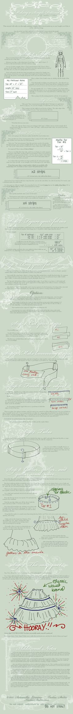 Tutorial: Making a Petticoat by `taeliac on deviantART  available as a free pdf download also