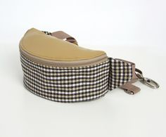 Valentine's Day – Hip Bag Grid beige – a unique product by PanPompka on DaWanda