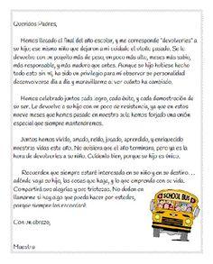Carta a los padres para el fin del año escolar - en español.