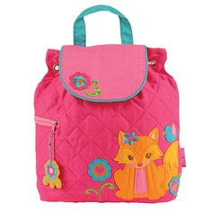Stephen Joseph Quilted Backpack Girl Fox