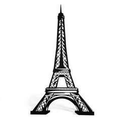 """Eiffel Tower Silhouette ~ The sturdy, black cardboard Eiffel Tower silhouette measures 6' 10"""" high x 18"""" wide x 9"""" deep. Use sandbags or weights for maximum stability."""