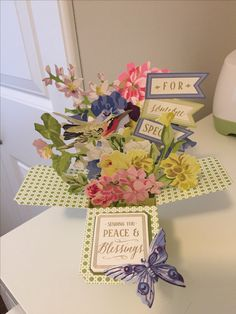 Window box cards using Anna Griffin materials