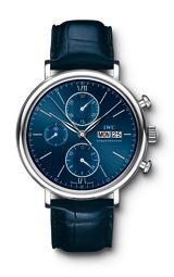 blue leather strap / blue dial watch / men's style
