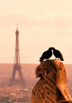 Pareja en París....