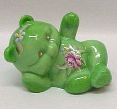 Fenton Art Glass Bear Figurine Hand Painted Signed New - I <3 the bears and collect them!