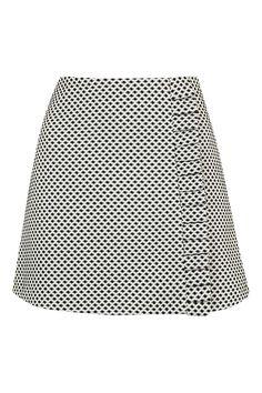 Dotty Frill Edge Mini Skirt - Topshop