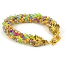 Chunky Kumihimo Bracelet love the colors-Cheri Kipp