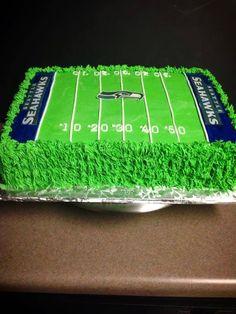 Seahawk Football Field Cake Red Velvet Cakes For Boys