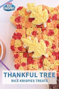 One thing's for sure, you'll be thankful for how easy this festive and family-friendly dessert idea is to make! Check out the full recipe to see how you can create this Thankful Tree Rice Krispies Treats® Cake for Thanksgiving this year.