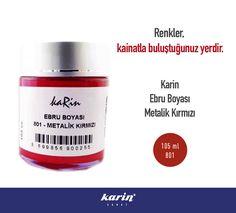 Karin Ebru Boyası  karinsanat.com  #MetalikKırmızı #Red #Kırmızı #KarinSanat #KarinEbruBoyaları #EbruMalzemeleri #EbruBoyaları #Marbling #KarinSanatMalzemeleri #KarinSanat