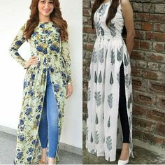 For details / order please dm or Whatsapp on . Kurti Neck Designs, Kurta Designs Women, Kurti Designs Party Wear, Indian Designer Outfits, Indian Outfits, Designer Dresses, Frock Fashion, Fashion Dresses, Dress Over Jeans