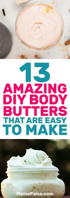 Amazing DIY Body Butters That Are Easy to Make I was looking for some body butter recipes to make when I came across these 13 awesome DIY body butters.I was looking for some body butter recipes to make when I came across these 13 awesome DIY body butters. Body Shop Body Butter, Best Body Butter, Homemade Body Butter, Shea Body Butter, Whipped Body Butter, Neutrogena, Diy Body Scrub, Tips Belleza, Bath Body Works