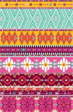 Seamless colorful aztec pattern with birds and arrows Art Print by Olena Syerozhym | Society6