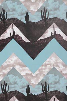 Desert Chevron Wallpaper - Urban Outfitters