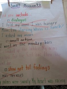 "Hello Literacy - teach students how ""small moments"" improve their writing"