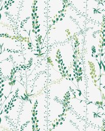 Bladranker - Scandinavian design wallpaper by Arne Jacobsen from the Scandinavian Designers II collection - Boråstapeter. Online in USA and Canada Plant Wallpaper, Feature Wallpaper, Botanical Wallpaper, Wallpaper Direct, Green Wallpaper, Wallpaper Samples, Wallpaper Roll, Wall Wallpaper, Botanical Prints