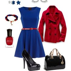 Very cute!  Would wear it as an everyday outfit with cute red and white striped flats!