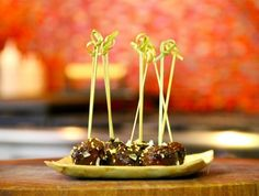 Use your grill for this Grilled Teriyaki Meatballs #recipe. #grilling