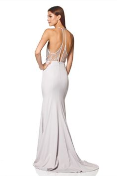 b687b81c8ffa Carlin High Neck Fishtail Dress with Open Back Detail. Fishtail DressLace  InsertOpen ...