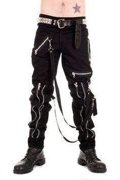 Mens Punk Clothing / Black Rocker emo Alternative Scene Trousers Gothic Style
