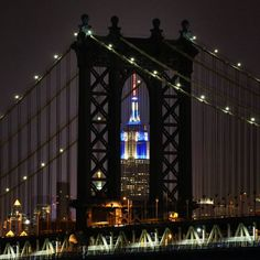 Nighttime version of the Empire State Building.