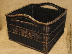 Корзины, коробы ручной работы. Ярмарка Мастеров - ручная работа Корзина для хранения. Handmade.