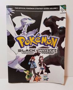 Nintendo Pokemon Black And White Version Official Video Game Strategy Guide Book #Nintendo