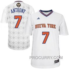 Find Carmelo Anthony New York Knicks 2014 Noches Enebea Swingman White  Jersey Authentic online or in Footseek. Shop Top Brands and the latest  styles Carmelo ... fe425ba22