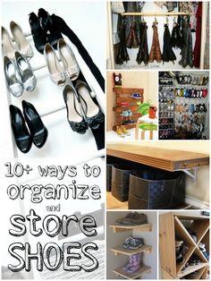 DIY Shoe Storage and Organization Ideas from Remodelaholic.com #shoes #organize #storage @Remodelaholic .com .com