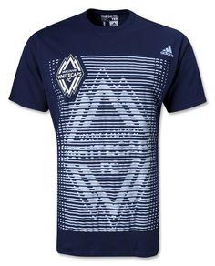 Vancouver Whitecaps FC MLS Adidas t-shirt NWT soccer Major League Soccer