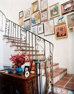 adore the wall art: and the tiles on the edges of the stairs? amazing!