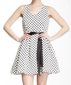 Pleated Polka Dot Dress