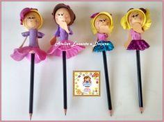 DIY Como fazer ponteiras de lápis usando sobras de E.v.a.
