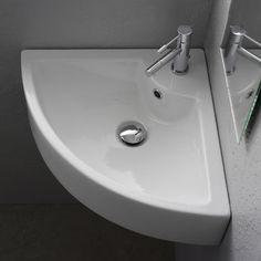 Corner Bathroom Sinks Creating Space Saving Modern Bathroom Design Beauteous Designer Bathroom Sink Inspiration