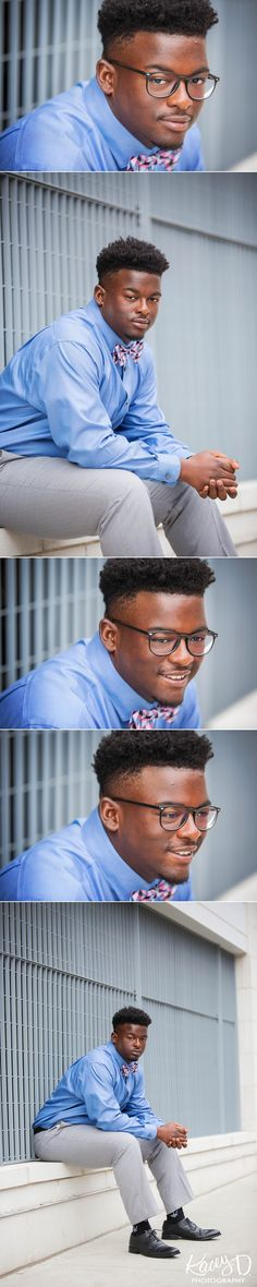 If you're ready to rock a bowtie, try a look like this for your senior photo session!