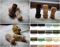 Dramatic Dreadlock beads Custom Order bohemian gypsy hippie statement wedding hair accessories bride dread bead hair braid wrap SET of 3