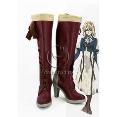 Violet Evergarden Violet Evergarden Cosplay Boots #VioletEvergardencosplay #cosplayboots #cosplaycass #costume