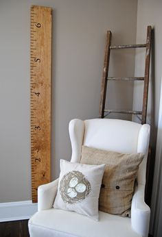 Growth Chart for the New Home Office/Homework Area