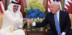 ABD Başkanı Donald Trump Suudi Arabistan başta olmak üzere bir çok arap ülkesinin ilikilerini askıya aldığı Katar ülkesinin Emiri Şeyh Tamin bin Hamad