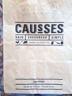 Causses shop paper bag