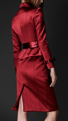 Satin Bustier Trench Coat | Burberry