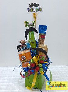 Globos, Flores y Fiestas Hostess Gifts, Gift Baskets, Diy Gifts, Fathers Day, Dragon Ball, Diy And Crafts, Happy, Gift Ideas, Chocolate