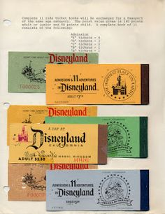 Vintage Disney.  Ticket books contained assortment of tickets.  You always ran out of the tickets for the premium rides first and then then spent the end of the day using up the scrub tickets on boring rides like the carousel or Dumbo ...