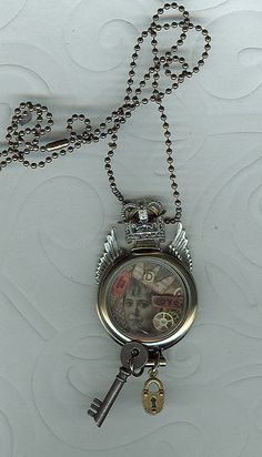 Altered Tim Holtz Pocketwatch Pendant