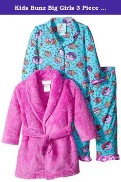 7bf22658c1 Baby Bunz Baby Girls  3 Piece Cupcakes Robe and Pajama Set